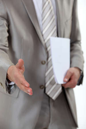 Businessman hand shake photo