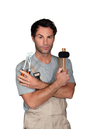40 45: Man confused with tools