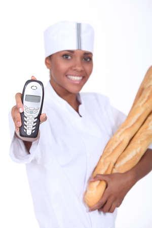 portrait of a baker photo