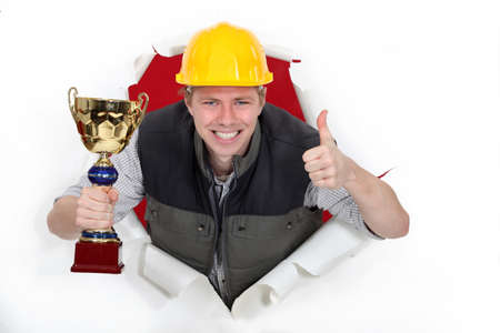 Employee of the month Stock Photo - 13378980