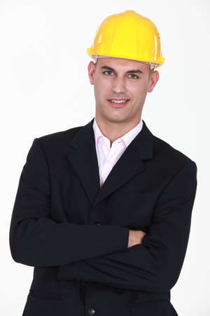 Engineer with his arms crossed Stock Photo - 13379205