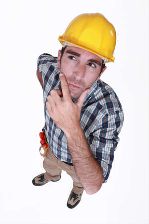 Pensive laborer Stock Photo - 13379242