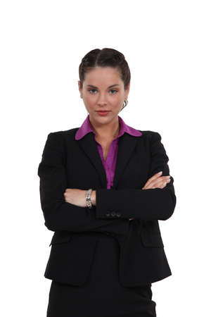 Businesswoman stood with arms crossed photo
