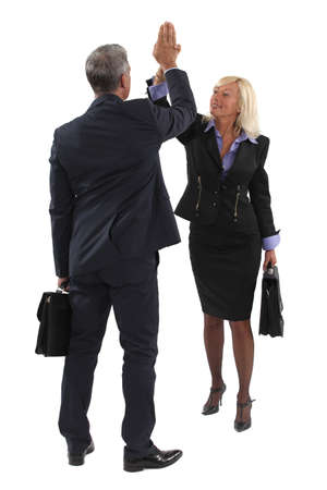 Executive hitting hand Stock Photo - 13377683