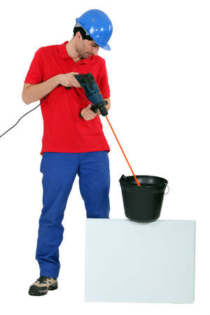 specialization: Man with drill
