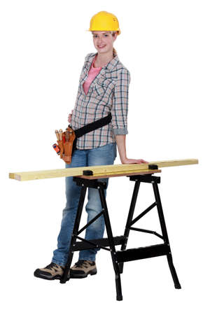 Female woodworker Stock Photo - 13461393