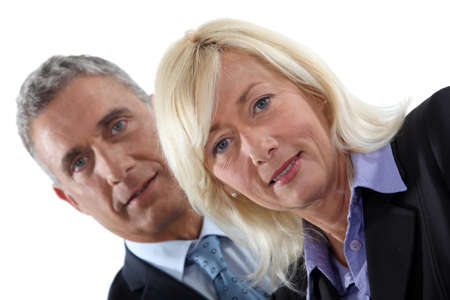 Mature executive couple Stock Photo - 13459311