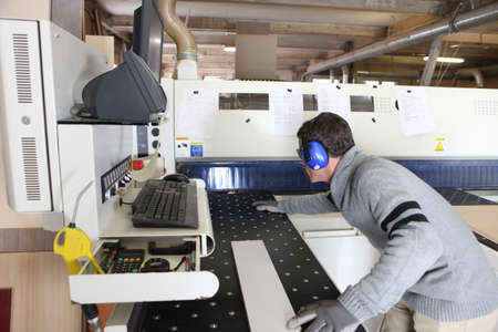 man working in a factory photo