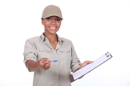 haulage: Delivery woman