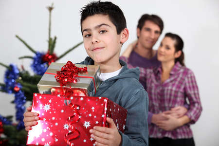 Santa has been kind to me Stock Photo - 13459196