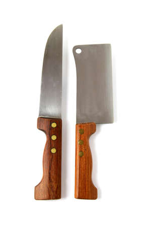 Meat cleaver and chef Stock Photo - 13461508