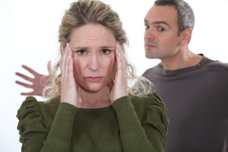 violent couple dispute Stock Photo - 13459211
