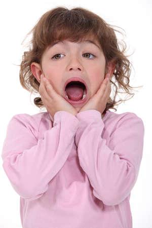 ni�a gritando: Ni�a gritando Foto de archivo