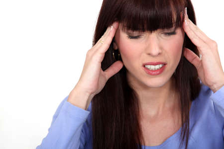 Woman with headache Stock Photo - 13459549