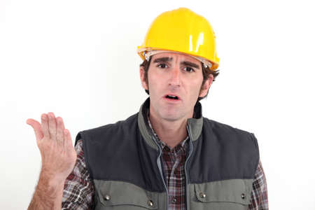 civil engineer: Annoyed builder