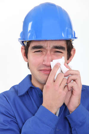 craftsman crying Stock Photo - 13459208