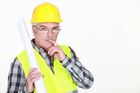 Thoughtful engineer Stock Photo - 13459302