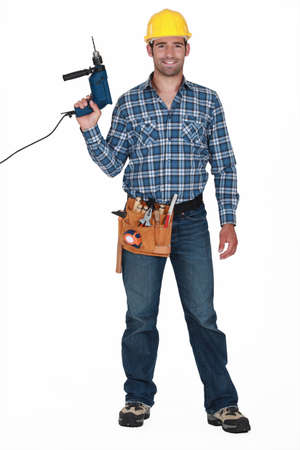 cordless: Workman with a drill