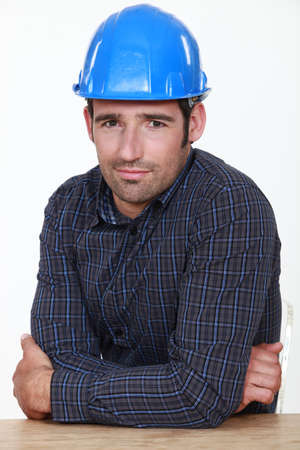 fidgety: Portrait of an uneasy tradesman