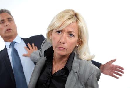 arguments: Senior business partners having a heated argument