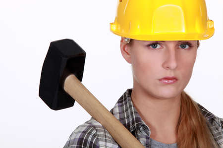 sledgehammer: Woman with a sledgehammer