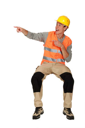 craftsman pointing Stock Photo - 13461511