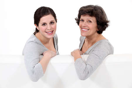 Portrait of a mother and her daughter Stock Photo - 13459523