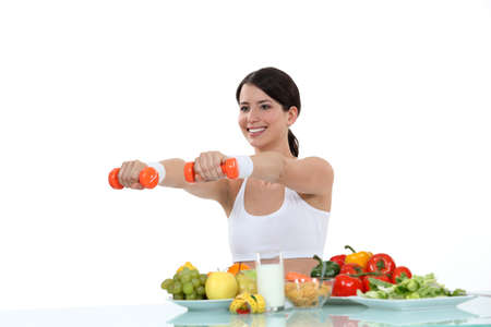 woman having a healthy life photo