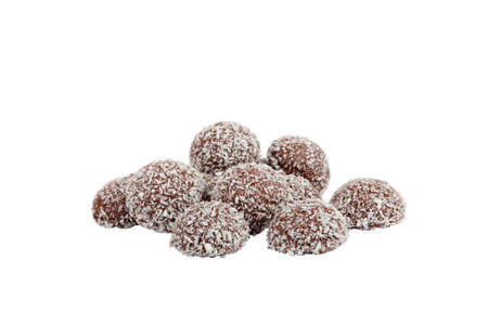 Chocolate coconut balls photo
