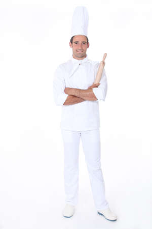 Confident pastry cook on white background Stock Photo - 13500171