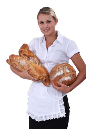 Young female baker photo