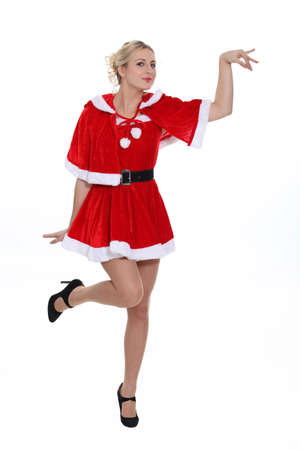 Beautiful young woman in Christmas disguise Stock Photo - 13458633