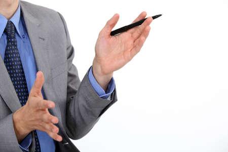 Human hands gesturing