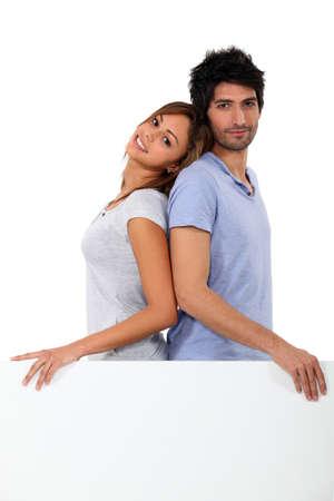 publicity: portrait of a couple Stock Photo