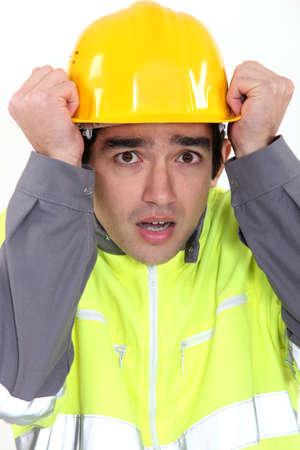 Scared builder photo