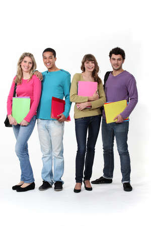 four classes: College students Stock Photo