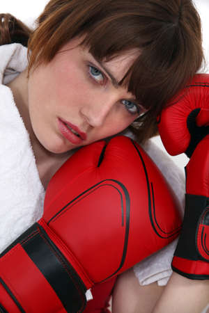 Female boxer Stock Photo - 13457291