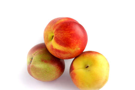 Three red and yellow apples Stock Photo - 13541216