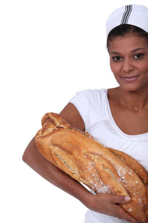 An African American female baker  photo