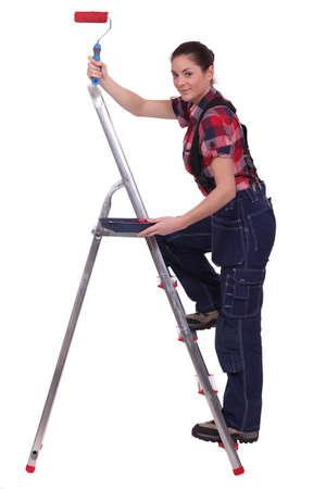 female house painter photo