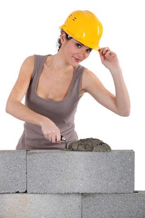 Female mason  photo