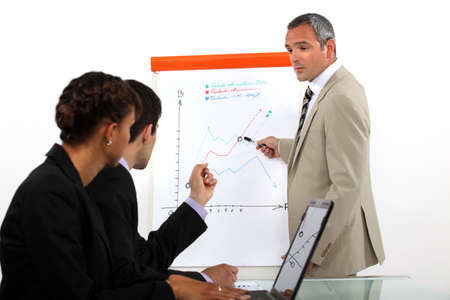 Man conducting business presentation photo