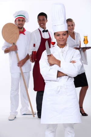 Restaurant staff photo
