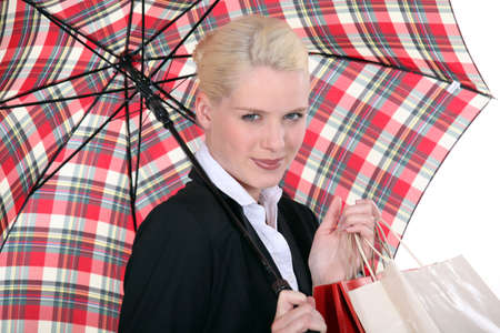 portrait of a young woman with umbrella Stock Photo - 13542213