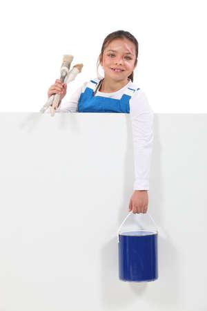 女の子の画家