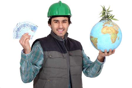 profitable: Saving the planet is profitable Stock Photo