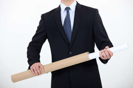 sheath: Architect with sheath in hands