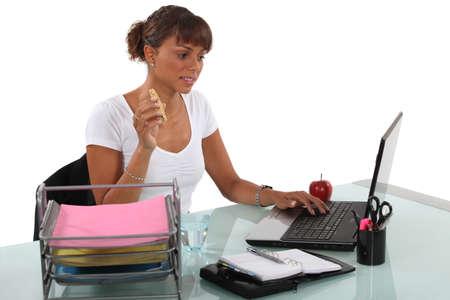 A secretary at work  photo