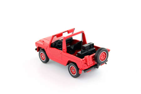 Scale model of red of road vehicle photo