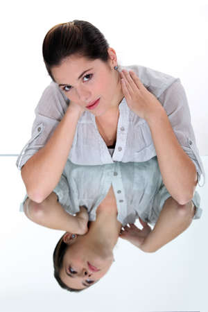 beauteous: young woman having stiff neck